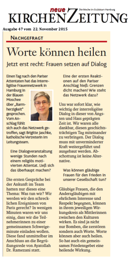Interview Ausgabe 47 der Neuen KirchenZeitung vom 22. November 2015